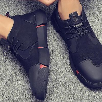 Модные мужские кожаные кроссовки