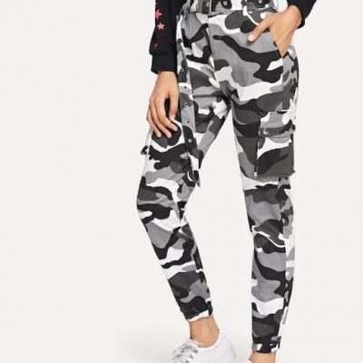 Женские брюки камуфляжные